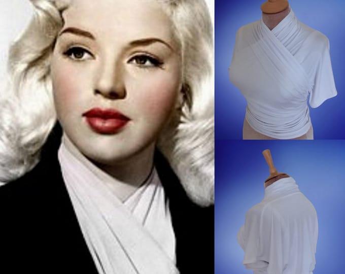 Ready next week...Diana Dors...Wrap blouse