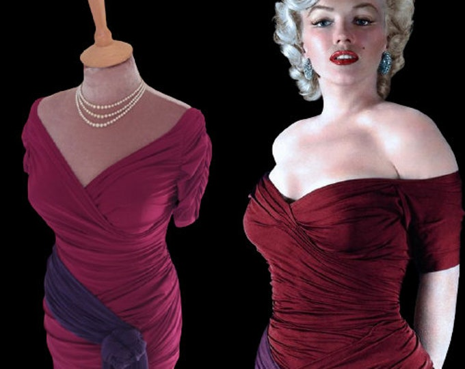 To order...Marilyn Monroe ruched top with matching skirt