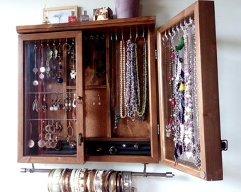 Jewelry Cabinet Etsy