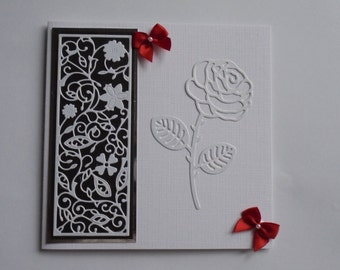 Monochrome card. Black and white card. Monochromatic card. Just because card. Thinking of you card. Everyday card. Card for any occasion.