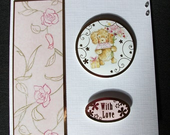 Puppy dog card. Puppy card. Dog card. Cute puppy card. Dog lover's card. Cute puppy dog card. Best friend card. With love card.