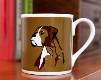 Boxer Dog Fine Bone China Mug