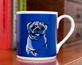Pug Dog Fine Bone China Mug