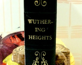 Wuthering Heights Emily Bronte Vintage Book Classic Bronte Sisters Novel Faux Leather Bound Midnight Blue Embossed
