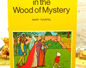 Rupert in the Wood of Mystery Mary Tourtel Little Bear Library number 7 1970s Vintage Hardback Rupert Book 1st Ed