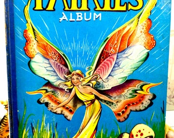 Vintage Fairy Story Book Dated 1957 Fairies Album Stories for The Young Folk by Gerald G. Swan Comic Annual Scarce