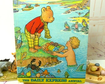 Rupert the Bear Annual 1975 Daily Express Nice Vintage Rupert Book Board and Spine Very Good