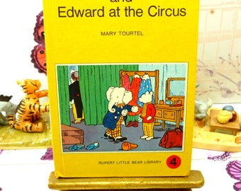 Rupert and Edward at the Circus Mary Tourtel Little Bear Library number 4 1970s Vintage Hardback Rupert Book 1st Ed