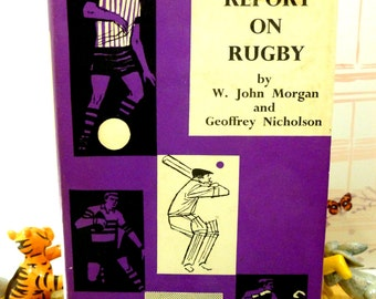 Report on Rugby Retro Sportsmans Book Club 1st Edition 1961 Hardback with Dustcover