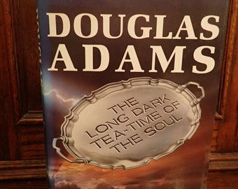 Douglas Adams The Long Dark Tea-Time of the Soul First Edition First Print 1988 Not Signed Scarce Sci Fi Classic Hitch Hikers Guide Author