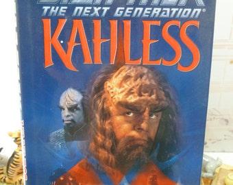 Star Trek Kahless 1st Ed 1st Printing Star Trek Novel Next Generation Hardback with Dust Cover Pocket Books 1990s