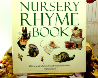 The Beatrix Potters Nursery Rhyme Book Vintage Hardback with Favourite Childrens Poems and Songs 1987