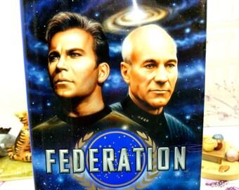 Star Trek Federation 1st Ed 1st Printing Star Trek Novel Hardback with Dust Cover Pocket Books 1990s
