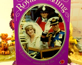 Vintage Royal Wedding LadyBird Book Charles and Diana First Edition 1981 Great Photos and info Historic Royal Souvenir