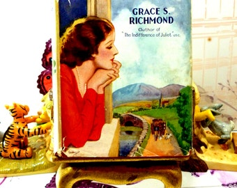 With Juliet in England by Grace S Richmond Rare Vintage Hardback 1930s Romance with Dust Wrapper