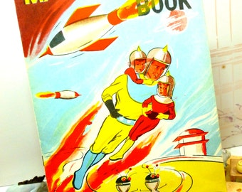 Vintage Magic Paint Magical Painting Coloring Book early 1950s with Patch Patsy the Pussy and Martians Unused