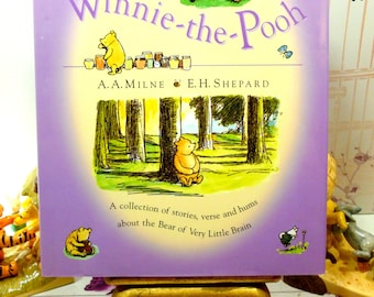 A World of Winnie the Pooh Vintage Hardback Childrens Book Lots of Pooh Bear Stories Beautiful Illustrations