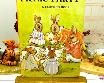 Vintage Ladybird Book Bunnikins Picnic Party Baby Rabbit Tale Series 401 Lovely 1950s Childrens Bedtime Story