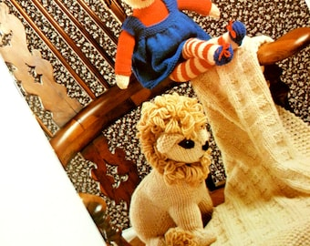 Knitting Guide Book Great Vintage Patterns Jemima Rag Doll Lion Striped Socks