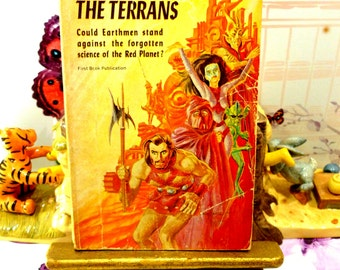 The Coming of the Terrans Sci Fi Paperback Book 1st Ed Martians Earthmen Barbarian Tribes Fantasy Novel SF Pulp Fiction