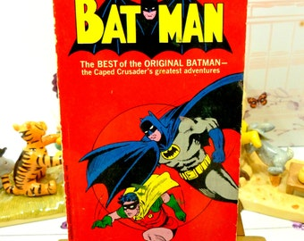 Batman The Legend of Batman who he is and how he came to be Rare 1st Ed Paperback Bob Kane 1966 Graphic Novel