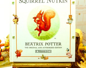 The Tale of Squirrel Nutkin by Beatrix Potter Beautiful Illustrations Vintage Hardback Book 1st Edition Thus