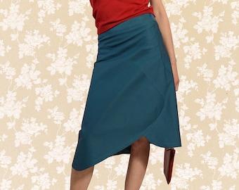 Skirt BIO-Aponi: Organic Cotton, petrol