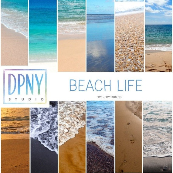 Water Digital Papers Sand backgrounds Sea Beach Scrapbooking Commercial Use Milky Way Inspired Wallpapers Vol 1