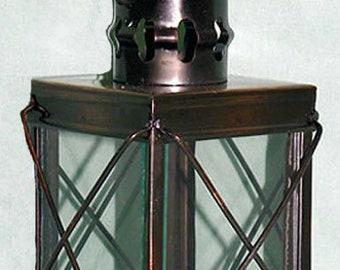 "Metal Decorative Nautical Style Tea Light Candle Lantern~Antique Finish 3/"" X 6/"""