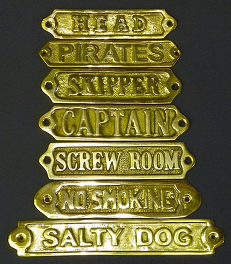 "Chrome Plated /""Captain/"" Door Sign ~ Captain/'s Quarters ~ Nautical Maritime"