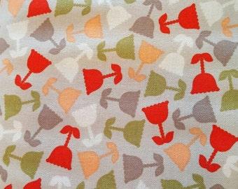 "Free Spirit, 100% cotton fabric. Grand Hotel by Jenean Morrison. ""Rooftop Garden""."
