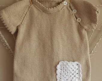 SALE  Hand Knitted Cotton Girl's Dress