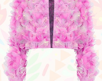 Pink Layered Love Heart Jacket