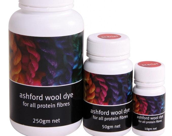 Ashford Wool Dye - 10gm, 50gm, 250gm pots
