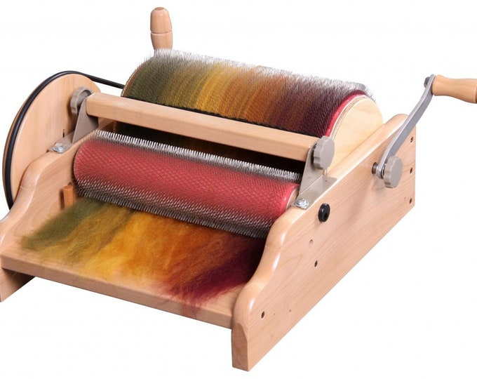 """WIDE Drum Carder - 72 PPSI Cloth - carding width 30cm (12"""")"""