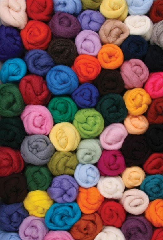 CORRIEDALE DYED TOP (30 micron)   100gm Bags