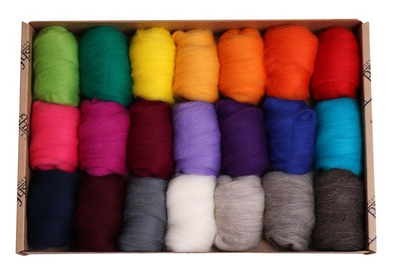 Corriedale Bright - 21 colours, 40gm each - total 840g (Approx)