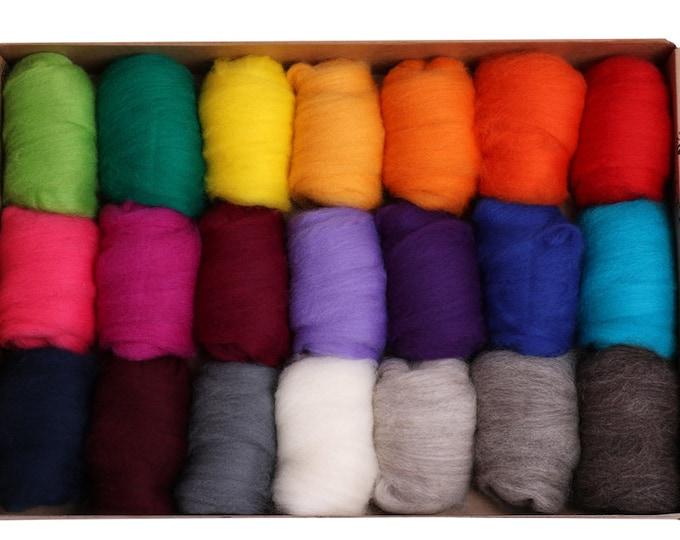 Ashford Corriedale Bright - 20 colours, 42gm each - total 840g (Approx)