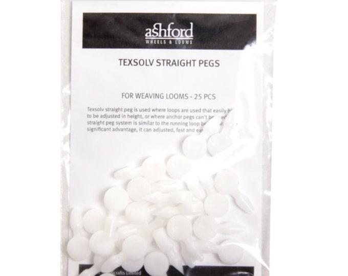 Ashford Texsolv Straight Pegs (pack of 25)