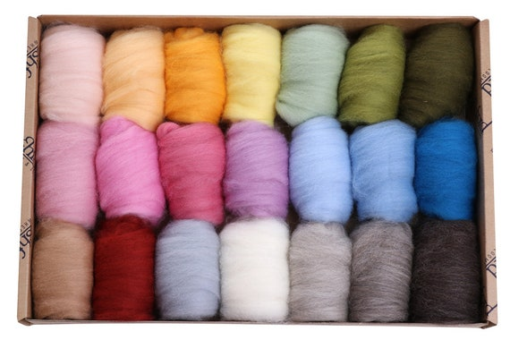 Corriedale Light - 21 colours, 40gm each - total 840g (Approx)