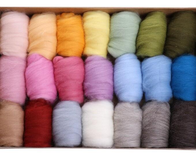 Ashford Corriedale Light - 20 colours, 42gm each - total 840g (Approx)