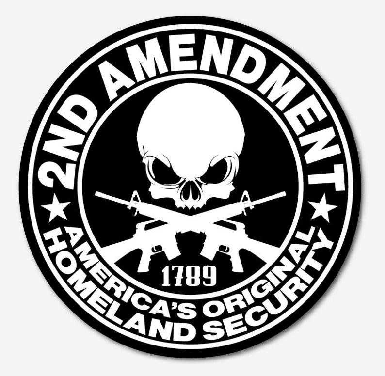 2nd Amendment Sticker Guns Decal Vinyl 2nd Amendment Car