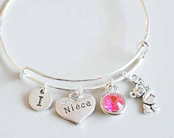 Niece Jewelry Birthday Gift BraceletNiece CharmNiece Personalized GiftGift For NieceGift From Aunt Present