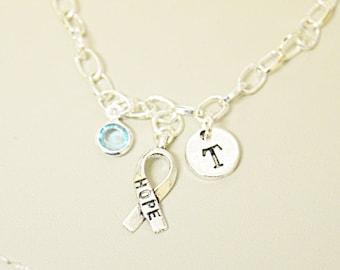 Hope Bracelet, Awareness bracelet, cancer bracelet, Cancer patient gift, Breast Cancer Awareness Bracelet, support Cancer, Cancer Survivors