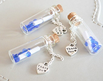 wedding favors, thank you gift, gift for guests, small wedding gifts,thank you message in bottle, save the date,wedding keepsake, customized