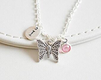 Butterfly Necklace, Butterfly Gift, Butterfly charm, Butter fly Necklace, Butterfly Pendant, Butterfly jewellery, Butterfly Jewelry,Birthday