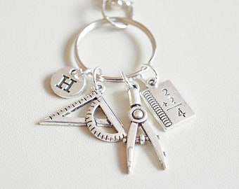 4790dba3 Mathematics Gift, Maths Teacher gift, Mathematics student gift, Maths gift  for her, Engineer Keyring, Engineering student, Maths graduation