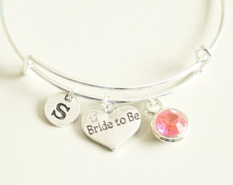 Bride to be bracelet, Bride to be Gift, Wedding jewelry, Engagement gift, Hen party gift, Wedding announcement, bridesmaid bracelet set
