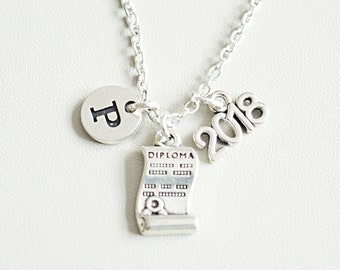 Graduation Necklace, Graduation gift, Personalized Graduation Gift, Graduation Jewelry, Graduation 2018, Diploma, 2018, School, University