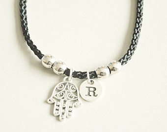 Hamsa Bracelet Bangle Hand Amulet Gift Gifts Hamza Jewelry Palm Evil Eye Charm